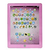 Giocattolo del bambino KOLY Tipo di tocco del bambino Tablet PC Computer di apprendimento inglese Giocattolo della macchina 18.3x14.2cm (Pink)
