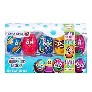 CHTK4 75802 CHU TV Peek & Play Surprise Eggs-ABC Set de iniciación, Multicolor