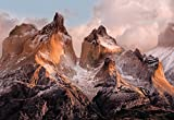 Fototapete TORRES DEL PAINE 254x184 Abendrot Gebirge Chile, National Geographics