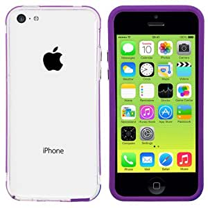 Colorfone PREMIUM Bumper Transparent / SchutzhŸlle fŸr Apple iPhone 5C Lila