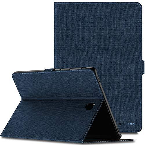 Infiland Galaxy Tab S4 10,5 Coque, Smart Case Housse Étui avec Multi-Angle Support Fonction Auto réveil/Sommeil, Fermeture Magnétique pour Samsung Galaxy Tab S4 10,5 Pouces 2018, Bleu Marine