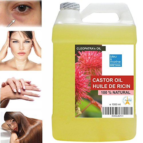 huile de ricin 100 naturelle 1000 ml l 39 huile de beaut de cleopatre cils cheveux ongles. Black Bedroom Furniture Sets. Home Design Ideas