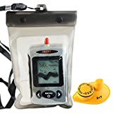 Lucky FFW-718 Wireless wasserdicht Portable Sonar Fish Finder mit Punkt Matrix 40m Reichweite (FFW-718 White)