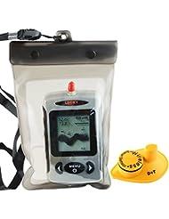 Lucky Wireless 45M Black Dot Matrix Fish Finder with Waterproof Bag