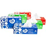 Cari Care Facial Tissues 100 Pulls 2 Ply 200 Sheets (22*12 Cm) Pack Of 8 (Blue Box+Green Box+Redbox)