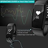 Activity TrackerYamay Fitness Tracker Watch Heart Rate Monitor Waterproof IP67 Fitness Wristband Pedometer Smart Watch Bracelet Step Counter For Men Women Call SMS Whatsapp Push For Android IOS Phone