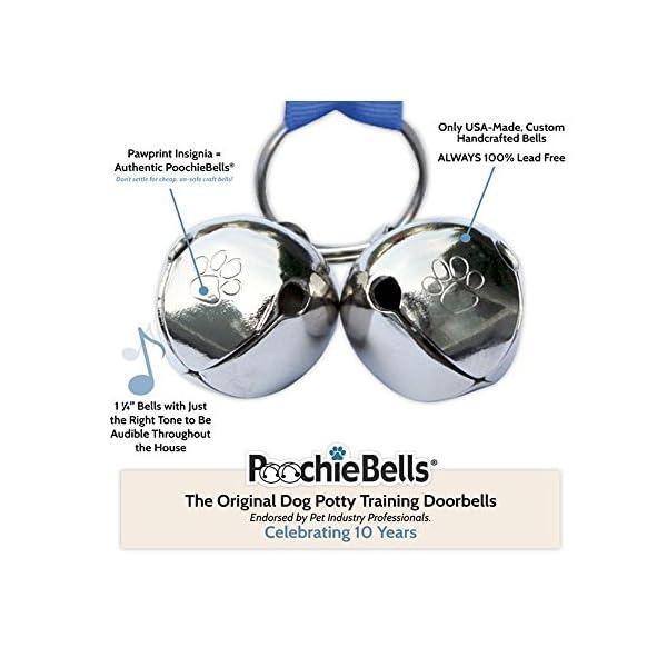 PoochieBells Dog Doorbells, Bone Appetite Brown_desther 5