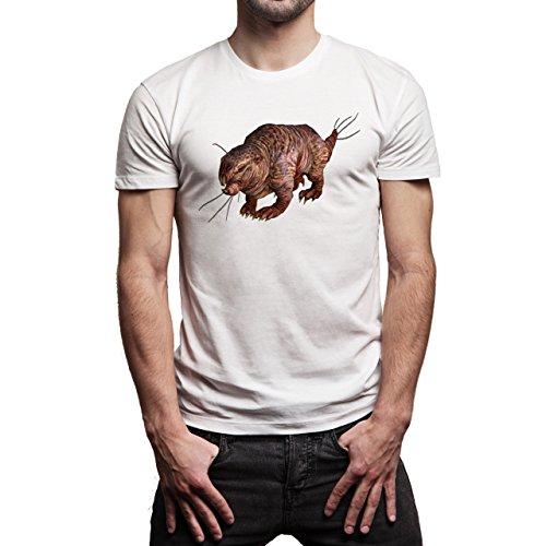Fall Out 4 Computer Game Art Shooting Mole Rat Herren T-Shirt Weiß