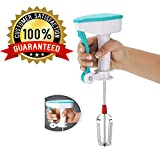 #6: Power Free Blender | Hand Blender Non-Electrical | Hand Mixer Blender | Stainless Steel Hand Blender Mixer for Egg & Cream Beater, Milkshake Lassi, Buttermilk Mixer, Coffee Milk Mixer Maker with Heavy Duty Gear System (Color May Vary)