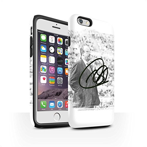 Offiziell Newcastle United FC Hülle / Matte Harten Stoßfest Case für Apple iPhone 6 / Pack 8pcs Muster / NUFC Rafa Benítez Kollektion Autogramm