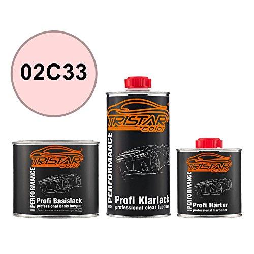 Preisvergleich Produktbild TRISTARcolor Autolack Set Dose spritzfertig für British Standard 02C33 Wild Rose Basislack + 2K Klarlack 1, 25L