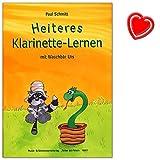 Heiteres Klarinette-Lernen mit Waschbär Urs - Klarinettenschule für Einzel- und Gruppenunterricht mit bunter herzförmiger Notenklammer
