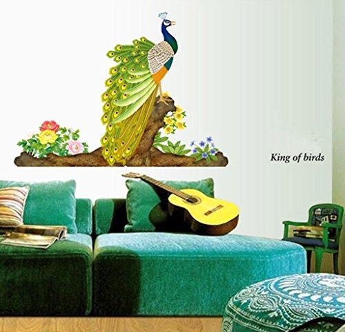 Decals Design 'Peacock Bird' Wall Sticker (PVC Vinyl, 60 cm x 90...