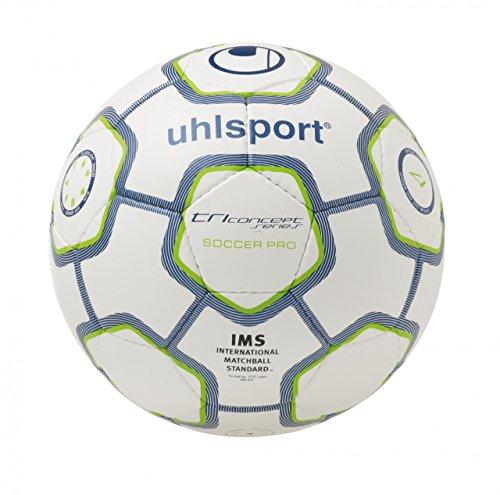 uhlsport TCPS Soccer Pro Fußball, weiß/dunkelblaumet., 3, 100147602