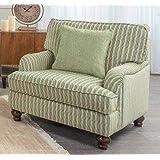 Danube Home Alexandria 1 Seater Fabric Sofa (Cream White)
