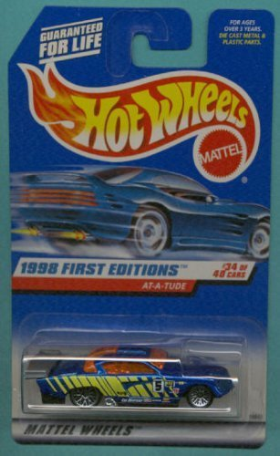 Mattel Hot Wheels 1998 First Editions 1:64 Scale Blue Jaguar At-A-Tude Die Cast Car #034