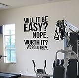 Worth It? (Ist es das wert?) Motivations-Wandaufkleber fürs Fitnessstudio, Zitat für Fitness / Gewichtsverlust / Ernährung / Gesundheit / Fitness / Spinning / Crossfit / Workout / Boxen / UFC / MMA