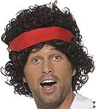 Mens Film & Tv Fancy Dress Party Eighties Tennis Player Wig Adults Headpiece
