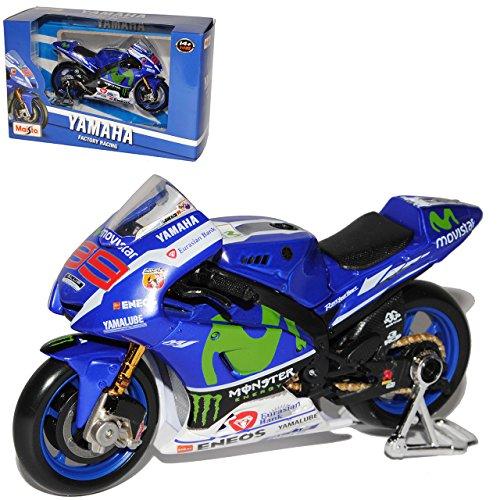 Maisto Yamaha Factory Racing YZR-M1 Moto GP 2016 Jorge Lorenzo Nr 99 1/18 Modell Motorrad