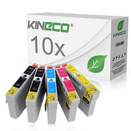 Preisvergleich Produktbild 10 Tintenpatronen kompatibel zu Epson T1291 - T1294 für Epson Stylus Office BX 305FW Plus, BX 320FW, BX 525WD, BX 625FWD, BX 935FWD, Stylus SX 420W, SX 525WD, WorkForce WF-7515 - Schwarz je 16ml, Color je 12ml