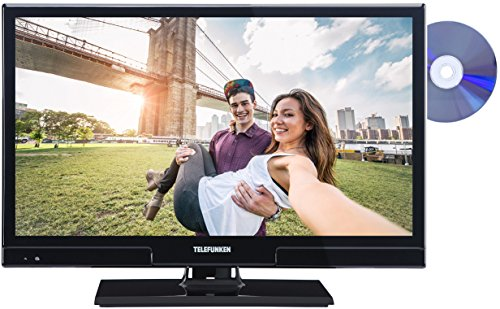 Telefunken XH20A101D 51 cm (20 Zoll) Fernseher (HD Ready, Triple Tuner, DVD-Player) schwarz (Receiver Dvd-player)