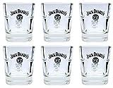 6 Jack Daniels Whisky Tumbler - original Gläser 2cl/4cl geeicht - Set