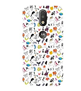 99Sublimation Animated Pattern Animal AND creature 3D Hard Polycarbonate Back Case Cover for Motorola Moto G4