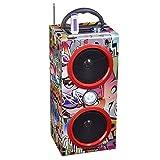 #9: Noizzy Box Graffiti Style Speaker with Mp3/Mp4/FM/Bluetooth/Aux/TF Card/DSP Radio/USB