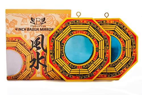 FengShuiYan 4 Inch Bagua Mirror Set of 2 for Protection;