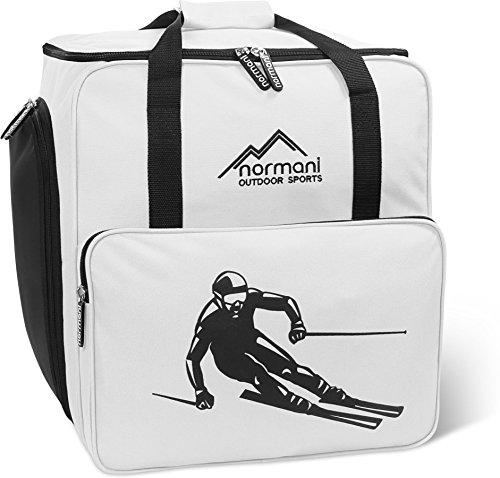 normani Skischuhtasche mit separatem Helmfach und Rucksackfunktion Alpine DEPO Farbe Weiß