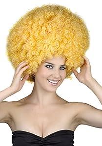 Reír Y Confeti - Fiedis055 - Accesorio Disfraz - Peluca - Afro - XL - Amarillo