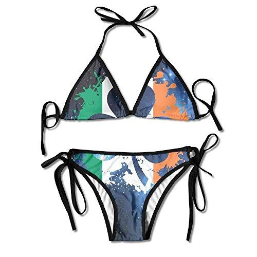 2be7be0789631 Women's Irish Shamrock Flag Pride Fashion Bikini Swimsuit Beach Swimwear