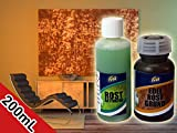 Rost Effekt Farbe - Rost Optik Wand - Edel Rost selber machen - Rostimitation – Rost Look Farbe - Rosteffektlack - Set aus 2 Komponenten