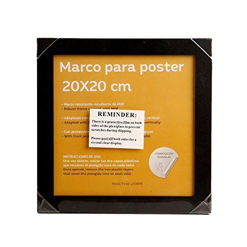 Nacnic Marco Negro tamaño 20x20cm. Marco Negro Fotos