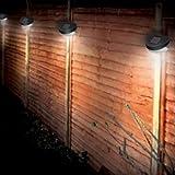 Best Artificial Lot de 12 luminaires solaires d'extérieur à 2 LED pour clôtures/allées