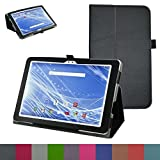 """Insignia Flex 10.1"""" Tablet Case,Mama Mouth PU Leather Folio 2-folding Stand Cover for 10.1"""" Insignia Flex 10.1 NS-P16AT10 NS-P10A6100 Tablet,Black"""