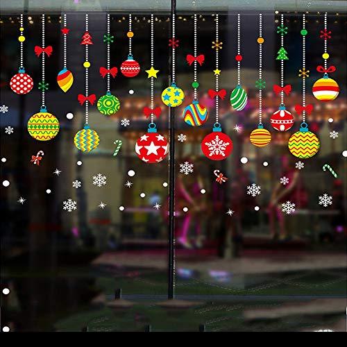 are Wandaufkleber Christmas Balls Fenster klammert Aufkleber Wand Aufkleber - Weihnachten / Urlaub / Winter Wonderland White Dekorationen Ornamente Party Supplies Wandtattoos ()