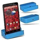 (Baby Blue)Motorola Moto Droid Mini Micro Desktop USB Charging Dock Mount Stand By ONX3