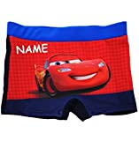 Badehose / Badeshorts - Disney Cars - Lightning McQueen / Auto - incl. Name - Größe 4 bis 5 Jahre - Gr. 110 bis 116 - für Jungen Kinder Badepants - Boxers..
