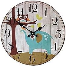 horloge hibou bois