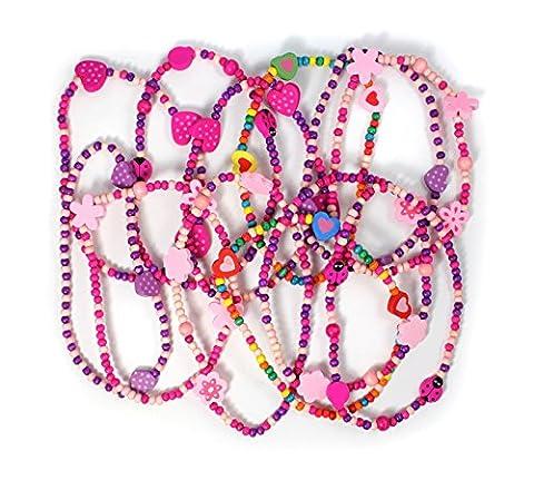 12 Princess Necklaces Girls Party Loot Bag Filler
