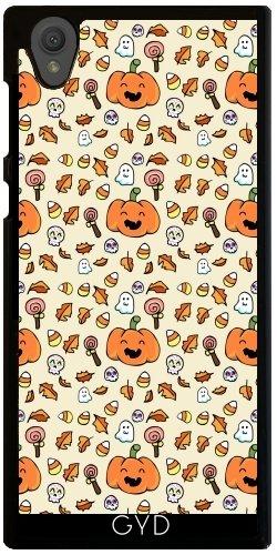Hülle für Sony Xperia L1 - Halloween Kritzelt Lustige Gesichter by AnishaCreations