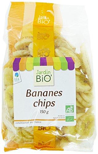 Jardin Bio Bananes Chips 150 g - Lot de 6