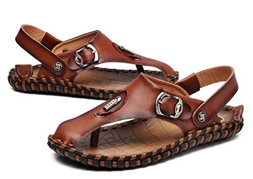 estate sandali di cuoio casuali degli uomini fatti a mano nuovi 2017 Handmade primo strato di sandali in cuoio Baotou 1