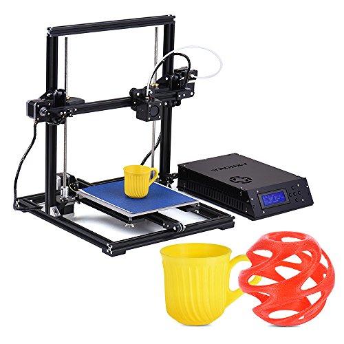 Aibecy TRONXY Kit de Impresora 3D X3 de escritorio Auto montaje Auto nivelación de tamaño 220 * 220 * 300 mm con pantalla LCD USB 8 GB de memoria Soporta PLA / ABS / HIPS / WOOD / PC / PVC filamento