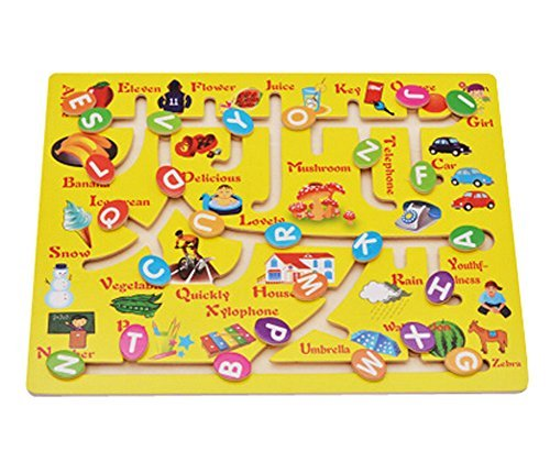 Lovely Colorful Kids Educational Maze Toy Infants Kids Toys (Letter Style)