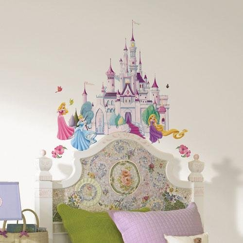 Preisvergleich Produktbild Disney Princess Prinzessin, Wandsticker Castle, Märchenschloss USA