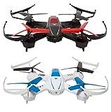 GOCLEVER gcdsf droni para Riesgo Drone Sky Fighters, Negro/Blanco