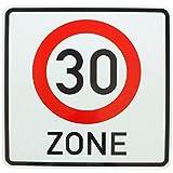 ORIGINAL VERKEHRSSCHILD BEGINN ZONE 30 zum Geburtstag als Geburtstagsgeschenk für Verkehrszeichen Schild 274.1-50 Geburtstagsschild Anfang Zonenschild RAL Straßenschild Schilder Verkehrsschilder Straßenschilder
