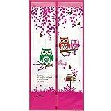 Magnetische Bildschirm Tür Tier Moskito Tür Bildschirm, Top-Zu-Boden-Dichtung Automatisch, Halten Sie Sich Von Moskitos Vorhang Für Balkon Schiebetüren Wohnzimmer Kinderzimmer, 90X210cm / 100X210cm, Farbwahl,Pink,90*210Cm